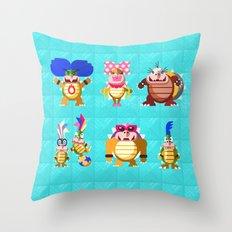 Koopalings! Throw Pillow