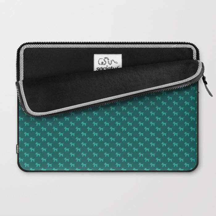 Dogs-Teal Laptop Sleeve