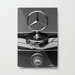 Car Black n White Metal Print