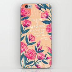 A Love of Gardening iPhone & iPod Skin
