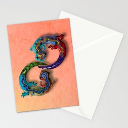Techno Geckos Stationery Cards