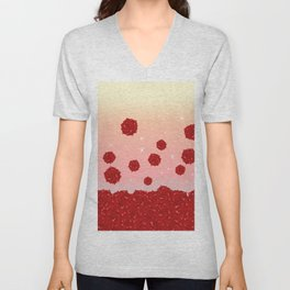 Roses and Star Unisex V-Neck