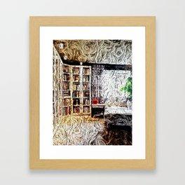 Cozy Library Room  Framed Art Print