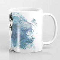 husky Mugs featuring Siberian Husky by Cami Landia