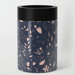 Pink flowers Can Cooler