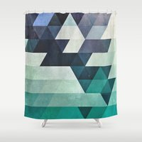 spires Shower Curtains featuring aqww hyx by Spires