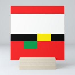 Xmas Color Santa Claus Colour 1 Mini Art Print