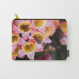 Tangerine Beauty Cross Vine with a Bumblebee Carry-All Pouch