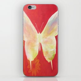 Pink Butterfly iPhone Skin
