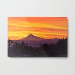 Mt. Hood Sunrise Metal Print