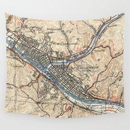 Vintage Map of Charleston West Virginia (1931) Wall Tapestry