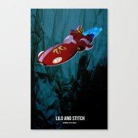lilo and stitch Canvas Prints featuring Lilo & Stitch by holysmoaks
