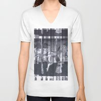 glitch V-neck T-shirts featuring Glitch  by Electra Withey