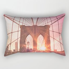 NYC Brooklyn Bridge Rectangular Pillow