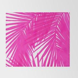Palms Fuchsia Throw Blanket