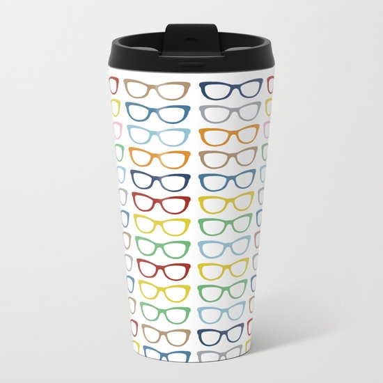 Rainbow Specs Metal Travel Mug