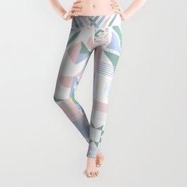 Retro Contemporary Geometrical Pattern Leggings