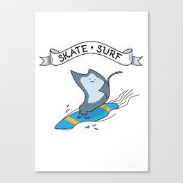 Skate • Surf. Surfing Skate Fish. Canvas Print