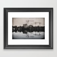 Industrial (retro postcard) Framed Art Print