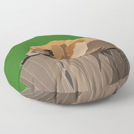 Precarious Snooze Low Poly Floor Pillow