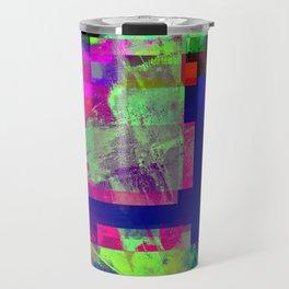 Pastel Geometry X - Abstract, goemetric, pastel coloured, textured artwork Travel Mug