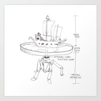 Mechanism for Inland Pirating.  Art Print