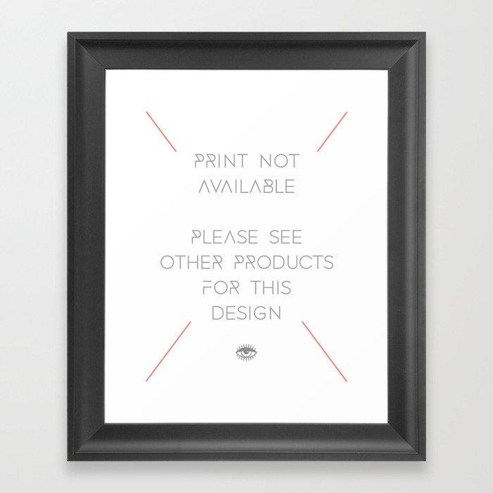 FEAR LOVE / LOVE FEAR Framed Art Print