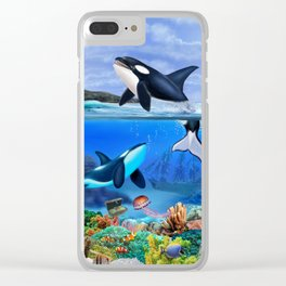 THE ORCA FAMILY Clear iPhone Case