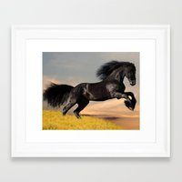 arabic Framed Art Prints featuring Arabic horse by Ace of Spades