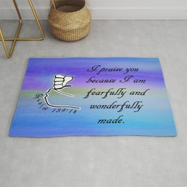 Fearfully and Wonderfully Made Rug