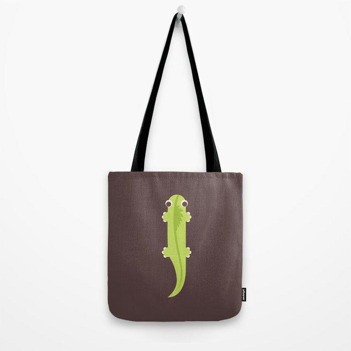 Letter I // Animal Alphabet // Iguana Monogram Tote Bag