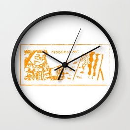 Modern art (splatoon) Wall Clock