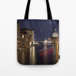 Grand Canal of Venice at Night Tote Bag