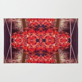 Red Orchid Rug