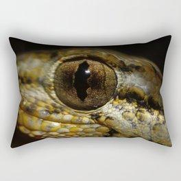 Gecko Running Rectangular Pillow