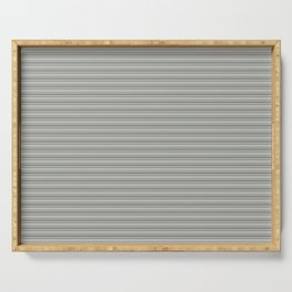 Benjamin Moore Cinder Dark Gray Triple Horizontal Stripes on Color of the Year 2019 Metropolitan Serving Tray