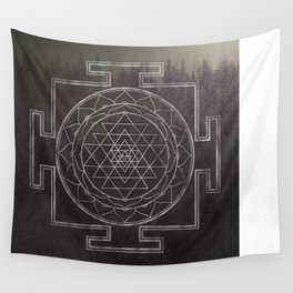 Sri Yantra Forest Wall Tapestry