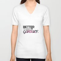 gandalf V-neck T-shirts featuring Better Than Gandalf by The Radioactive Peach