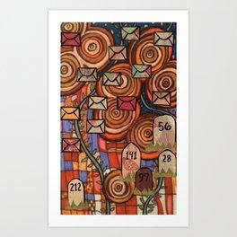 Mile 001 Art Print