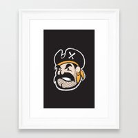 pirates Framed Art Prints featuring Pirates by John Trivelli