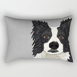 Beautiful Border Collie Rectangular Pillow