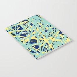 Daisy Scribble Navy, Mint and Lemon Notebook