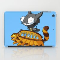 invader zim iPad Cases featuring My Invader Neighbor by HelloTwinsies