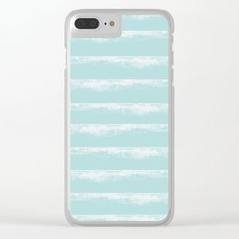 Irregular Stripes Mint Clear iPhone Case