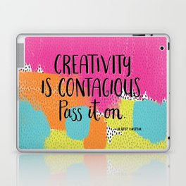 Creativity is Contagious Laptop & iPad Skin