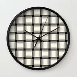 Large Ivory Weave Wall Clock