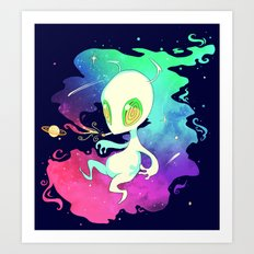DANK ASS SPACE WEED Art Print