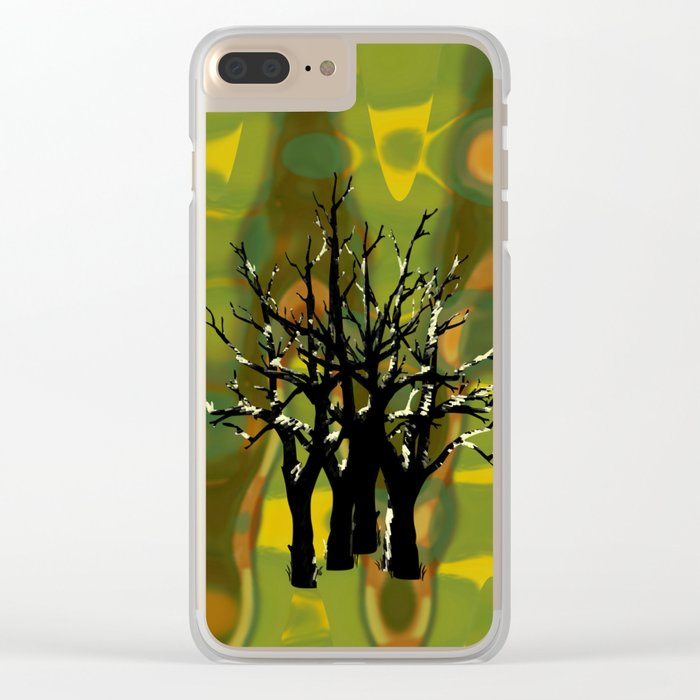 Tree Clusters Clear iPhone Case