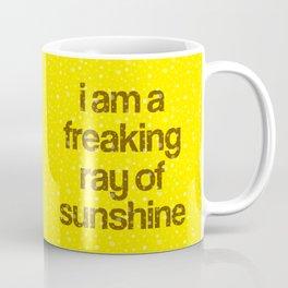 i am a freaking ray of sunshine (Sparkle Pattern) Coffee Mug