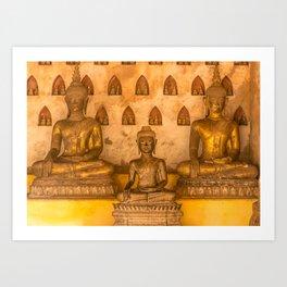 Wat Si Saket Buddhas III, Vientiane, Laos Art Print